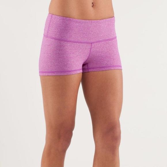 Lululemon Boogie Yoga Shorts Heathered Purple